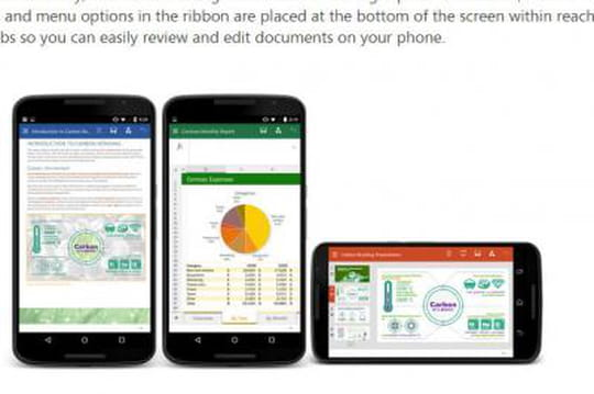Les apps Office arrivent en bêta sur les smartphones Android