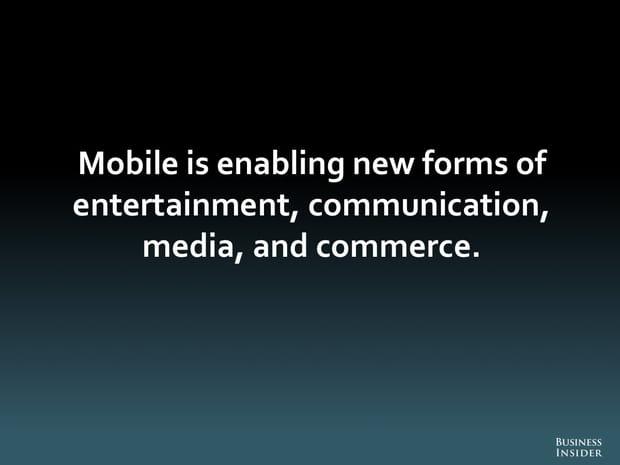 Sur mobile, de nouvelles formes de divertissement, communication, média, commerce