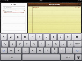 l'application bloc notes est rudimentaire mais peut servir de traitement de