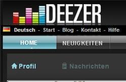 deezer traduit en allemand