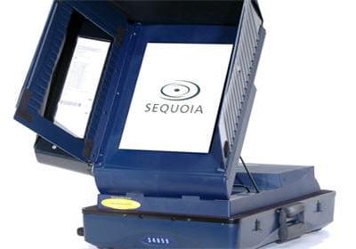 machine de vote avec écran tactile
