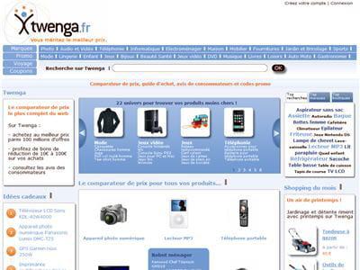 la page d'accueil de twenga