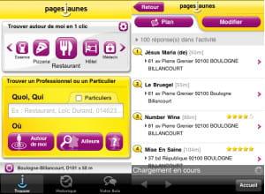 l'application pagesjaunes