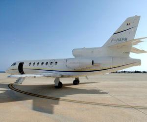 michelin air services, la compagnie aérienne du groupe, exploite deux falcon 50