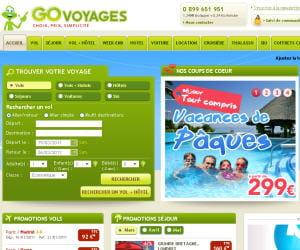 capture d'écran de govoyages.com
