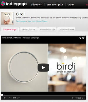 le 'smart air monitor' de birdi.