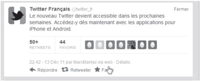 figure 1 - une capture de twitter.com présentant la mention 'via'.