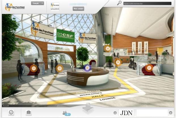 Salon virtuel des franchises  : visiteguidée