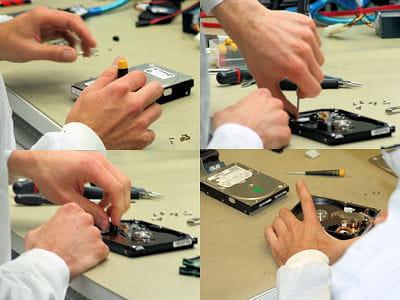 après le diagnostic informatique, ouvrir le disque permet de se faire une idée