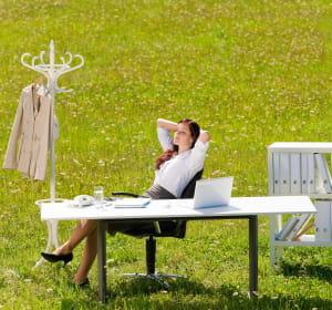les nouvelles technologies permettent de travailler sur un 'bureau virtuel' d'à