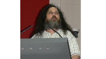 richard stallman, fondateur de la free softwarefoundation, lors de son