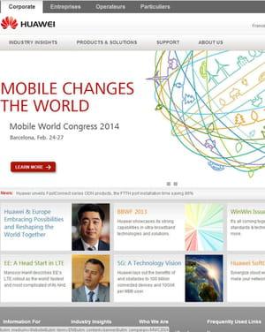 huawei est le premier équipementier de smartphones chinois.
