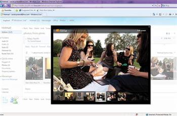 affichage de diaporamas et de vidéos directement dans le corps du message