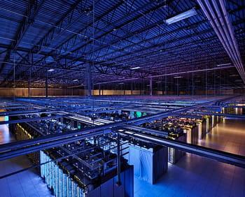 le centre de données de google à council bluffs dans l'iowa aux etats-unis
