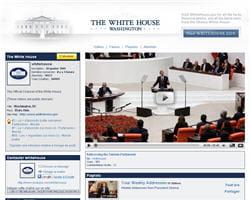 capture d'écran de la chaîne officielle de la maison blanche sur youtube