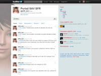 le service après-vente de sfr dispose de son propre compte twitter