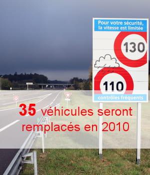 le remplacement des véhicules réformés aggrave la facture.