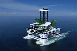 Pour un jouet de milliardaire, cette île privée mobile a placé la barre très haut