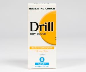 drill toux sèche 5mg, flacon 125ml.