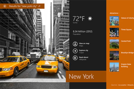 Windows 8.1: l'interface tactile Modern UI reste de mise