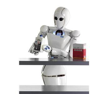 le robot aila en train de manipuler un objet.