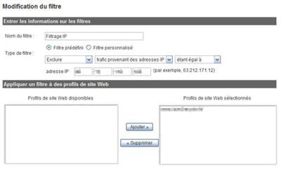 exemple de modification d'un filtre dans google analytics