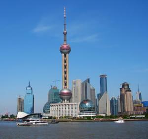 une vue de shanghai.