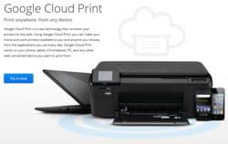 google cloud print est une solution possible pour accéder à une imprimante