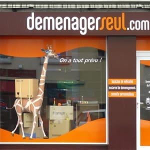 une façade de déménagerseul.com.