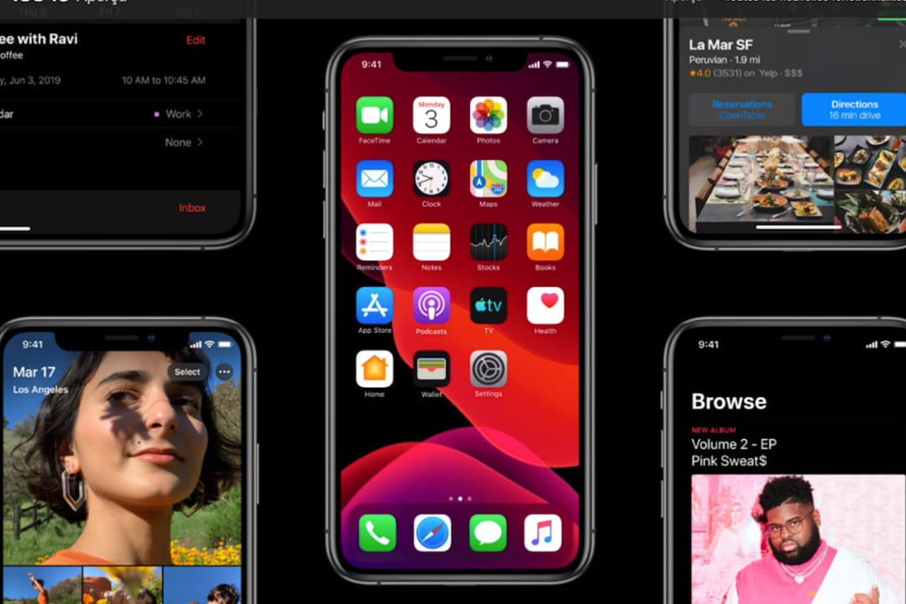 iOS13: une 8e bêta avant un lancement attendu le 10septembre