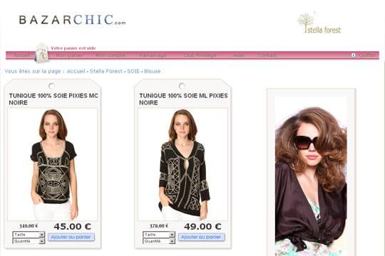 BazarChic : le site de vente en ligne