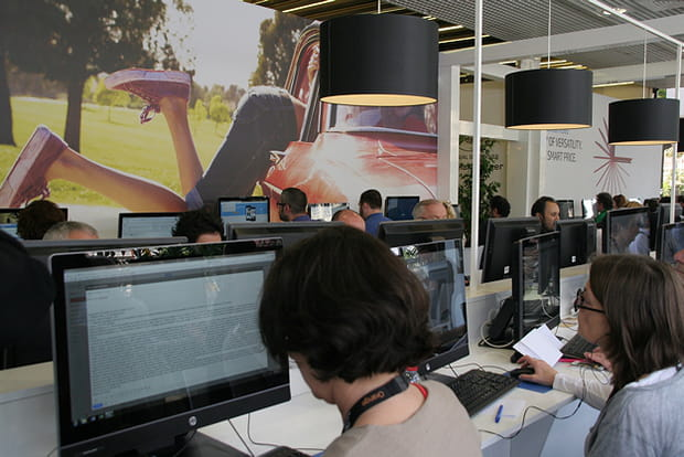 La salle de presse
