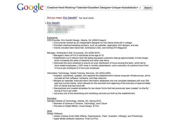 le cv google
