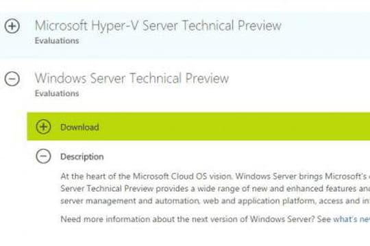 Windows Server : Microsoft publie aussi la bêta de la prochaine version