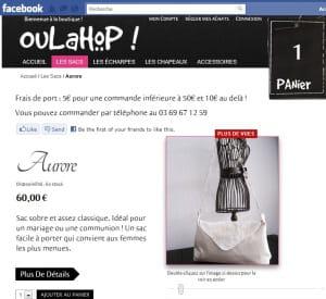 be2store a conçu la boutique facebook de oulahop