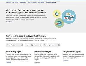solutions gallery de google analytics propose d'installer en un clicdes