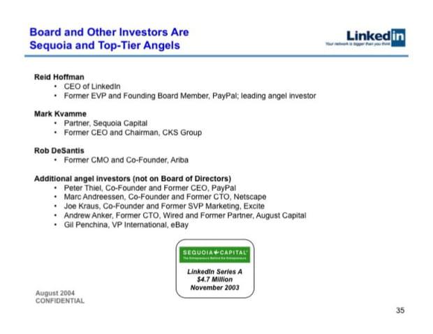 Des investisseurs réputés