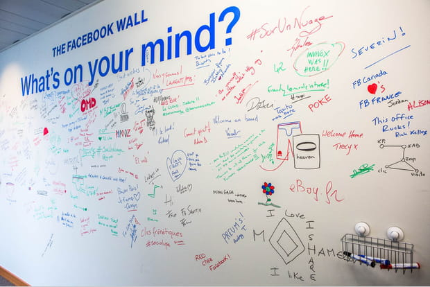 Le traditionnel mur facebook