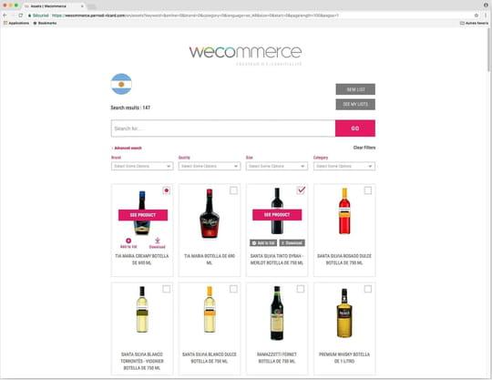 Wecommerce, la base produits de Pernod Ricard qui booste la vente en ligne