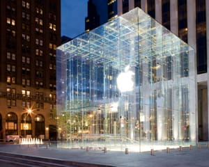 le magasin apple de la 5e avenue à new york.