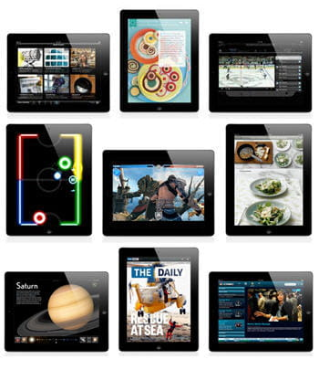exemples d'applications possibles sur ios 4.3 pour ipad 2.