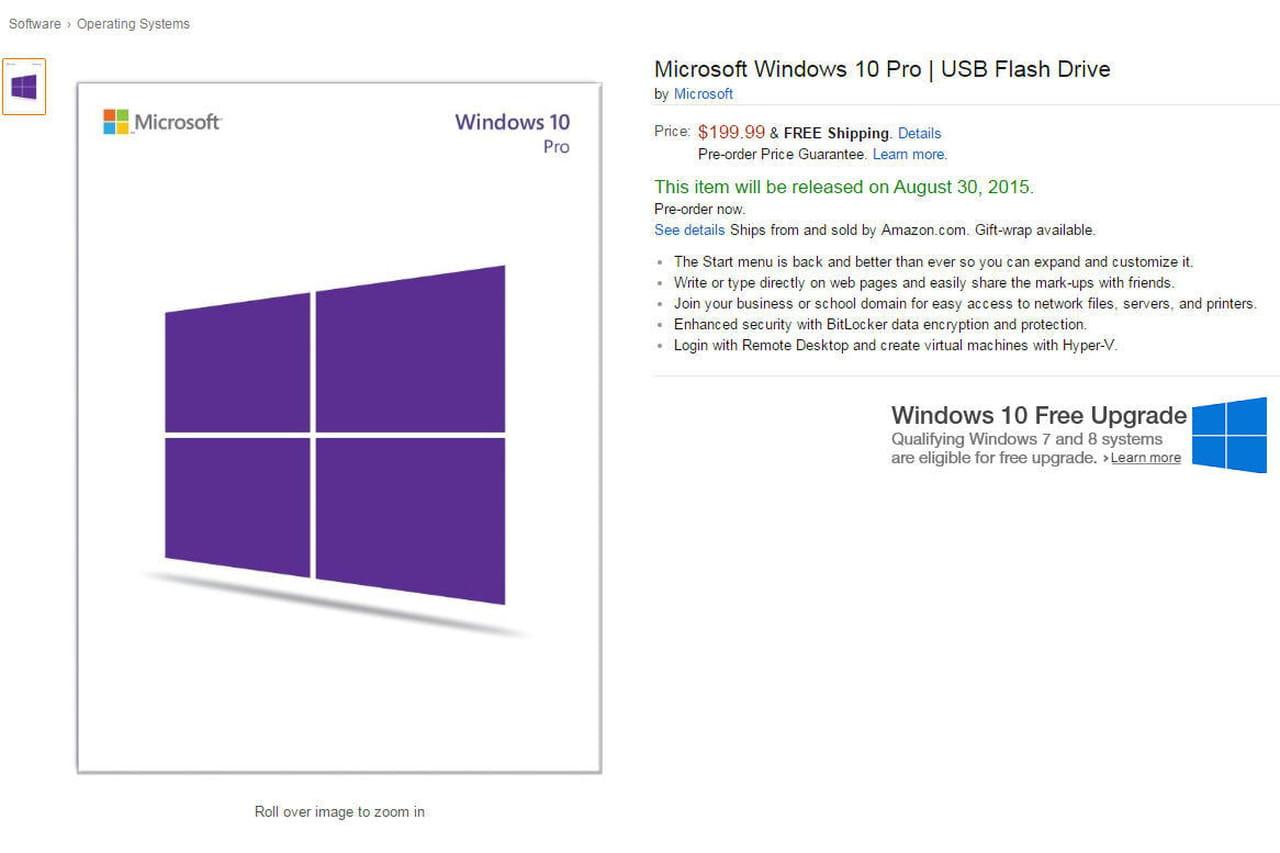 windows 10 sera aussi vendu sur cl usb. Black Bedroom Furniture Sets. Home Design Ideas