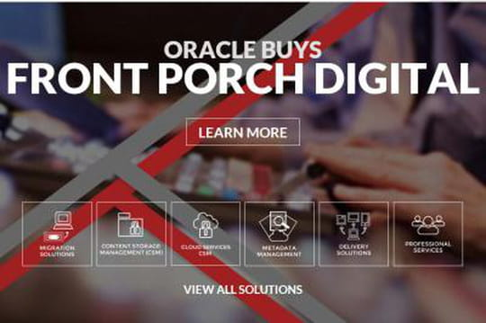 Stockage : Oracle s'offre Front Porch Digital