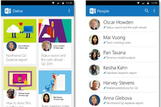 Delve : l'Office Graph arrive sur iOS et Android