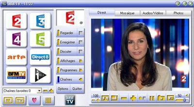 copie d'écran du logiciel proposé sur le site adsltv.org