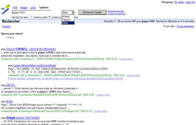 résultats de recherche issus de la bibliothèque médicale et indexés par la