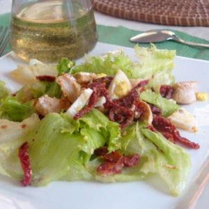 salade au poulet et vinaigrette vanillée
