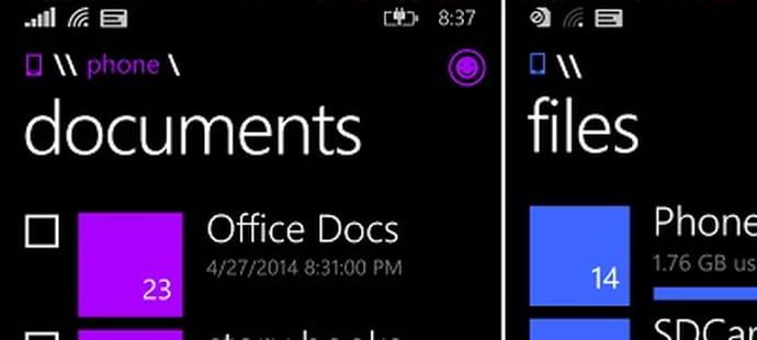 Windows Phone 8.1 bientôt doté d'un système de fichiers