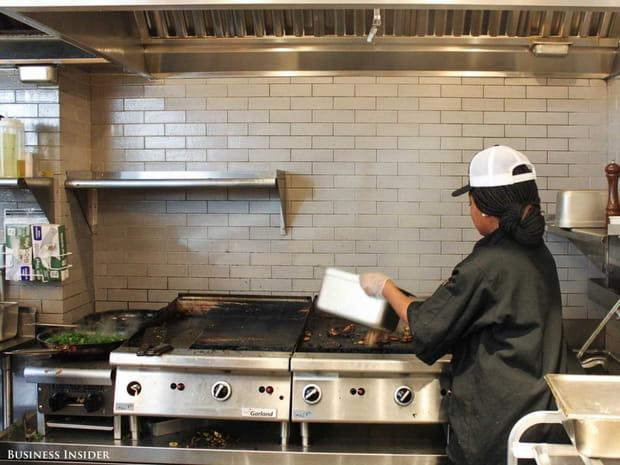 ... et cuisinés sous le nez des clients
