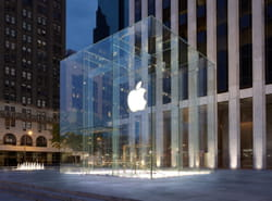 l'apple store de la 5e avenue, à new york.